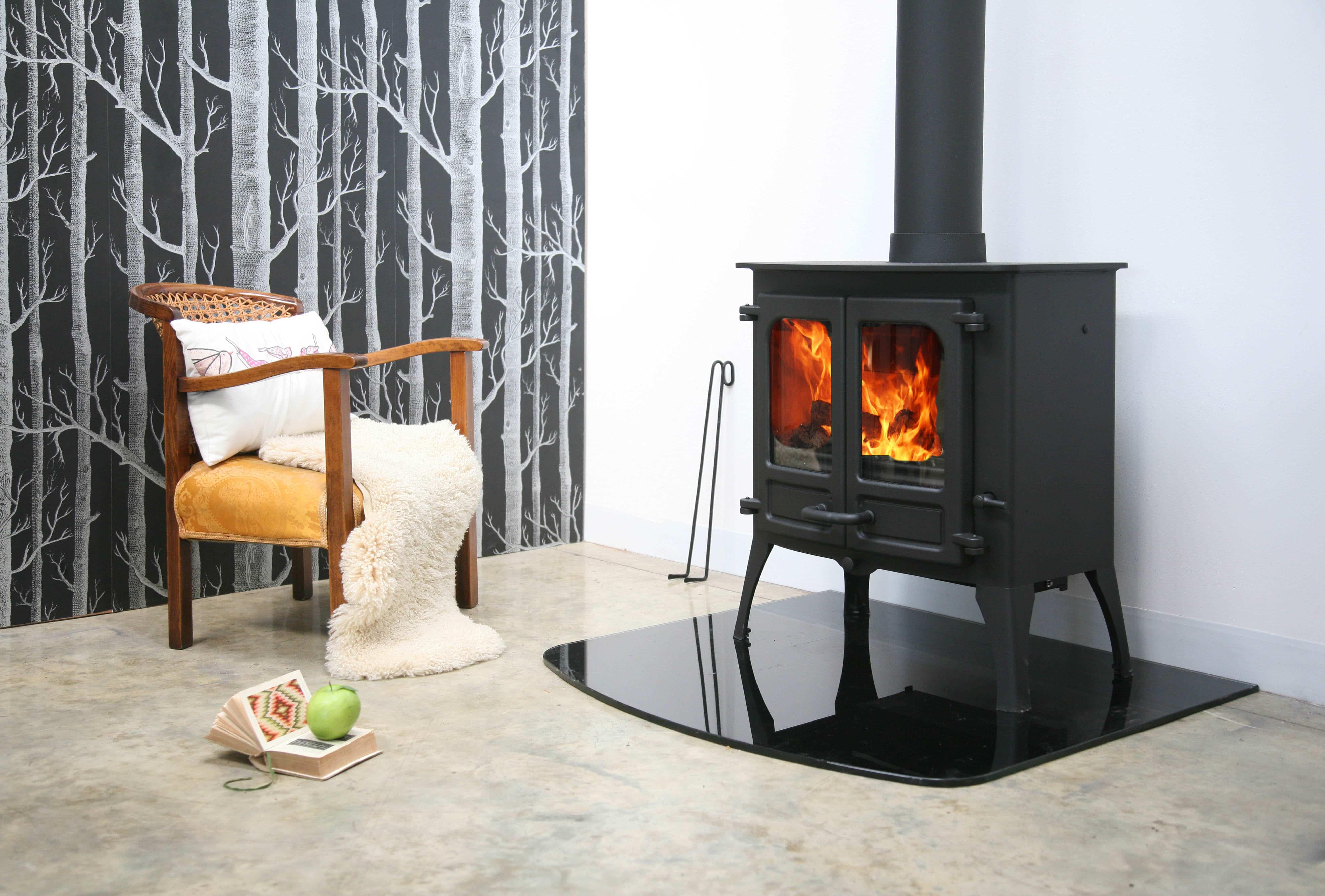 Ignite Stoves Amp Fireplaces Island Ii Multi Fuel Stove