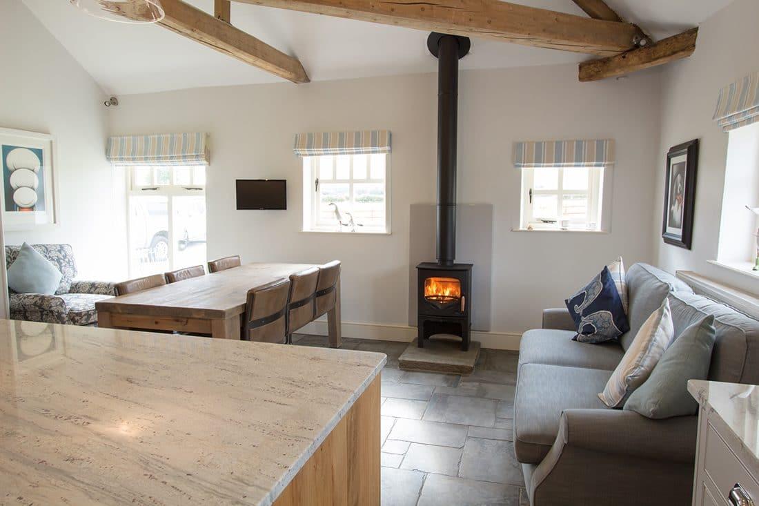 Charnwood Bembridge Woodburning Stove in Kitchen