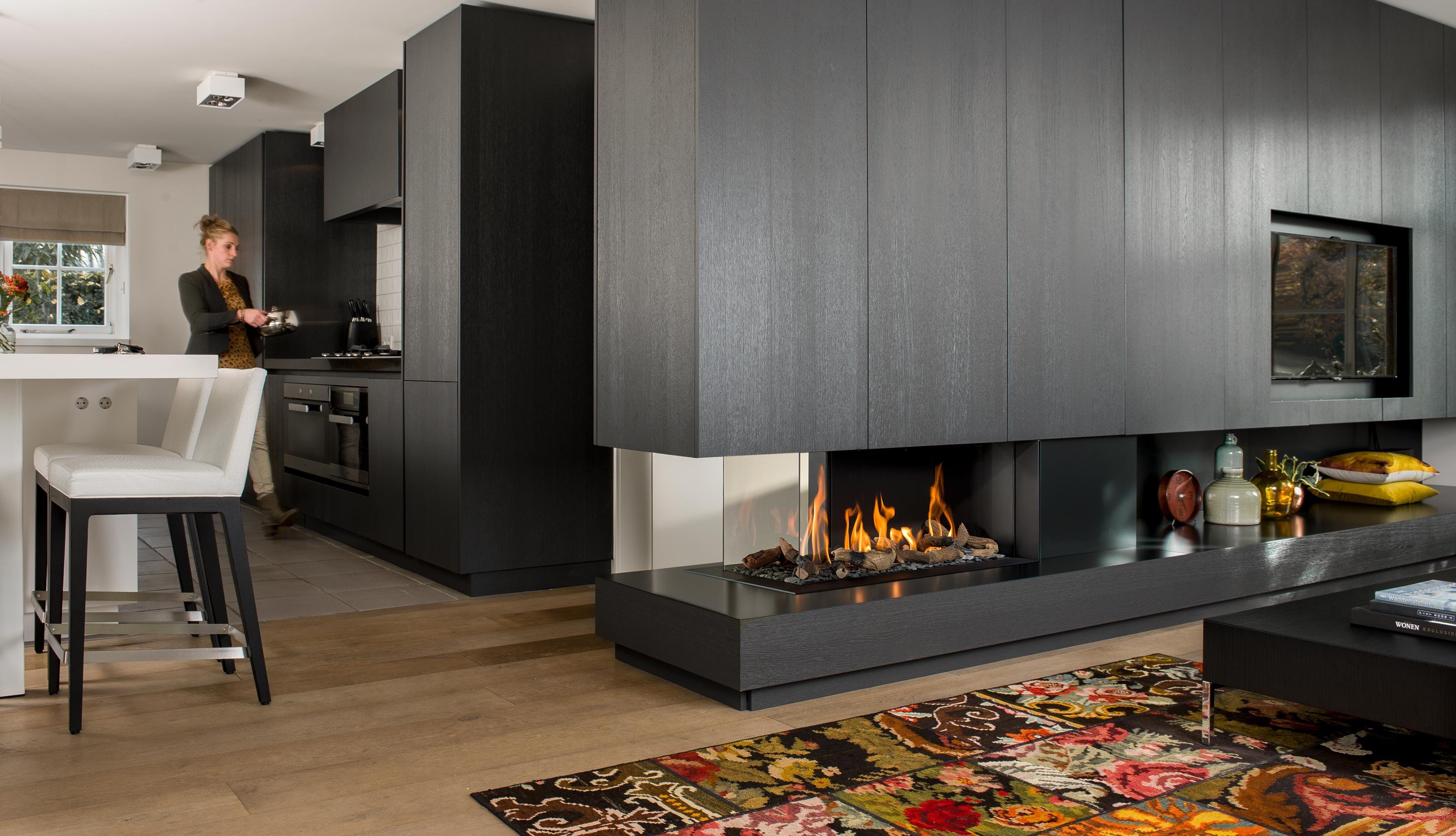 Bellfires Room Divider Large 3 Gas Fireplace