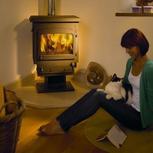 Woodwarm Fireview PLUS Slender 10kw Multi-Fuel stove