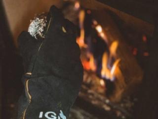 log burner baked potato