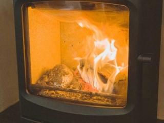 wood stove baked potato