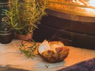 baked potato log burner