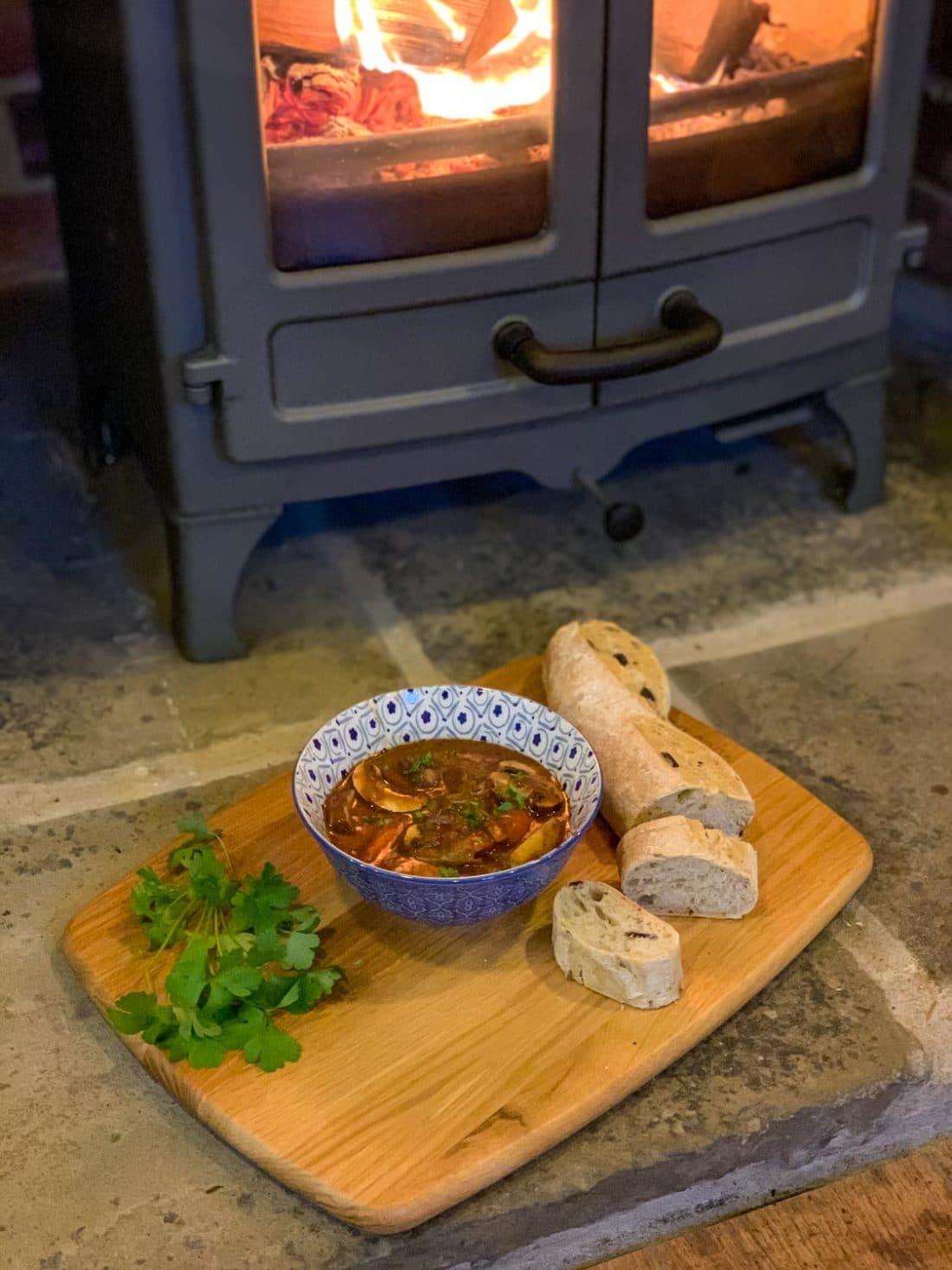 beef stew on the log burner charnwood island 1