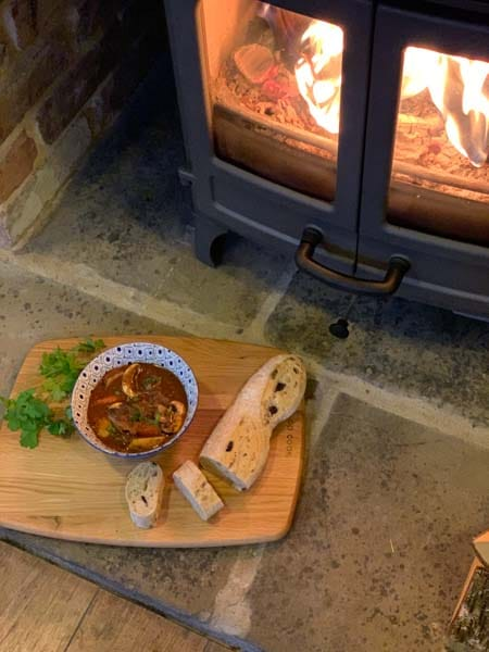 beef stew on the log burner charnwood island 1